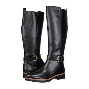 Tommy Hilfiger Women's Leather Knee High Buckle